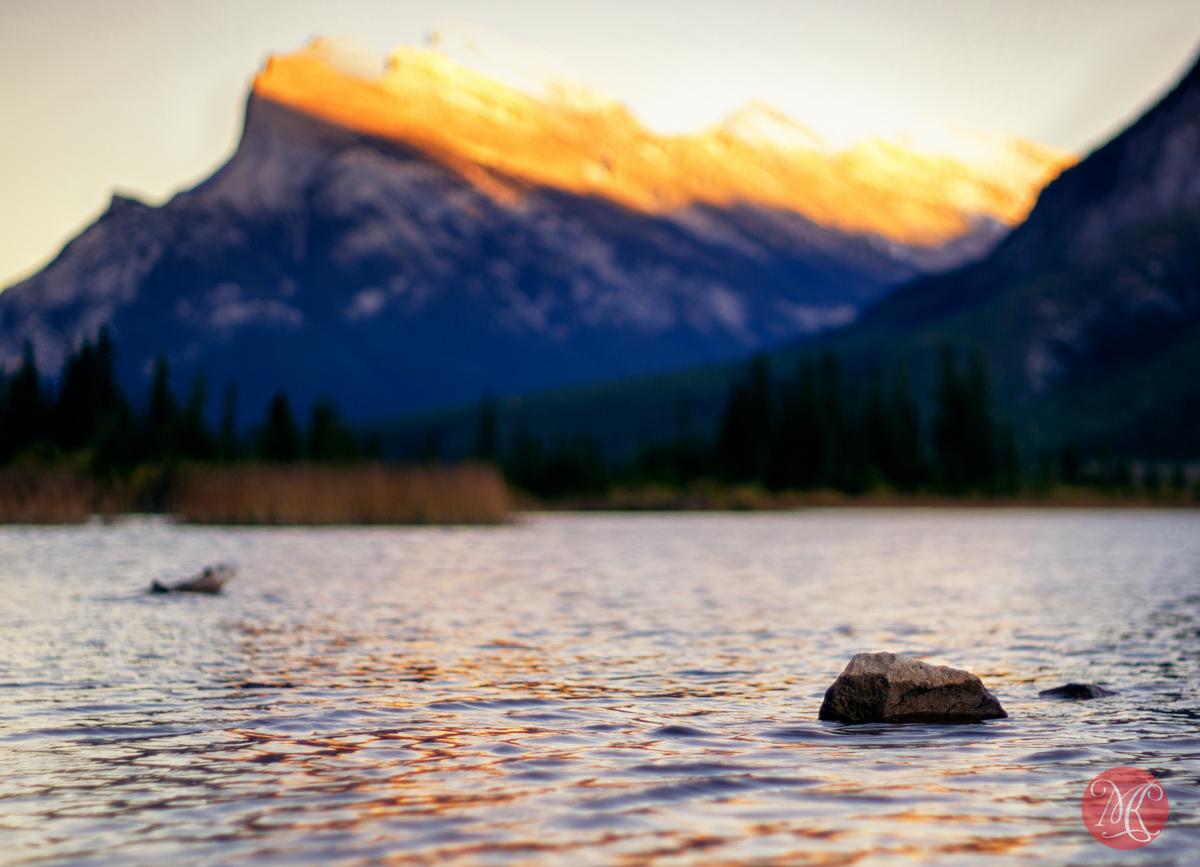 sunset mountain landscape alberta nature