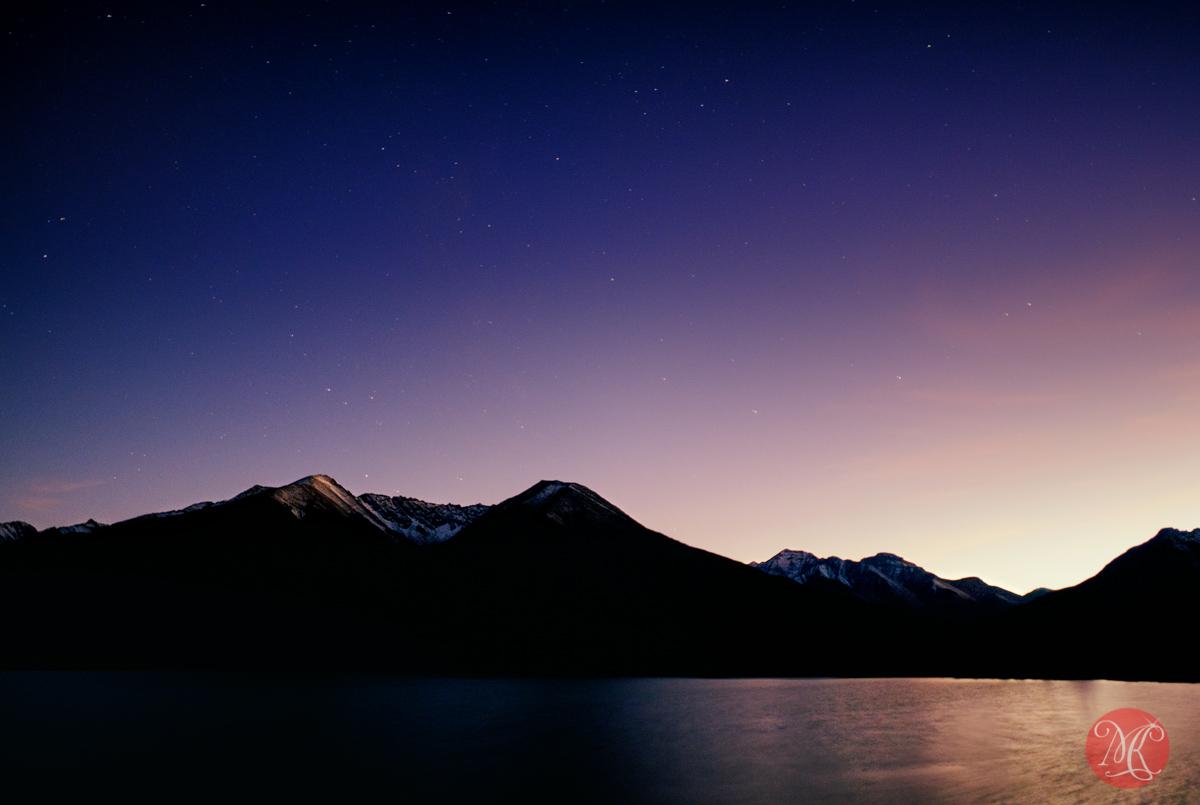 stars landscape rockies alberta photography