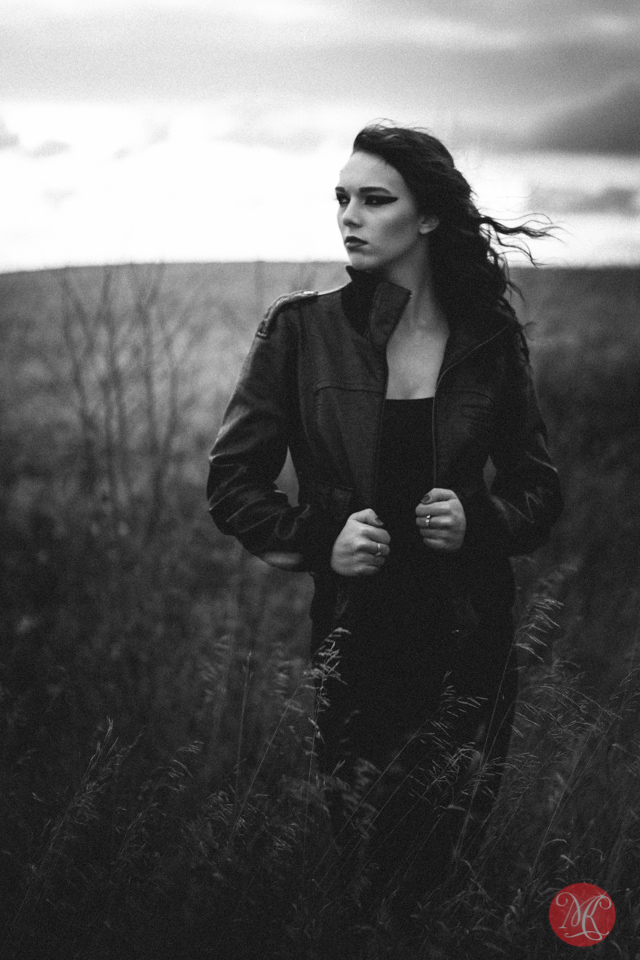 portrait road alberta model woman
