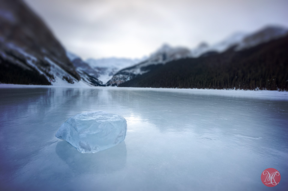 landscape alberta lake mountain winter photography