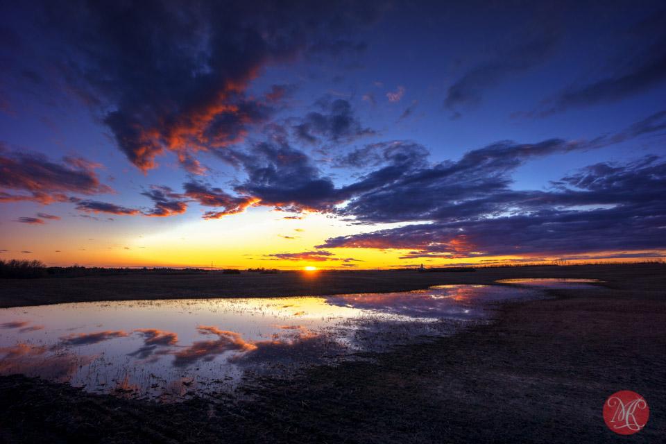 edmonton landscape sunset alberta