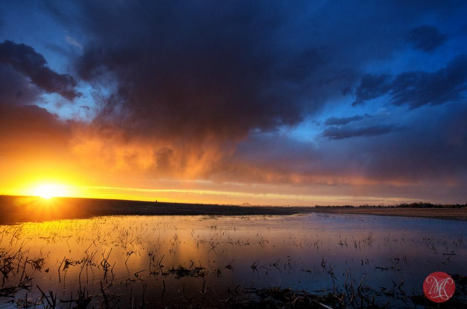 alberta storm landscape sunset
