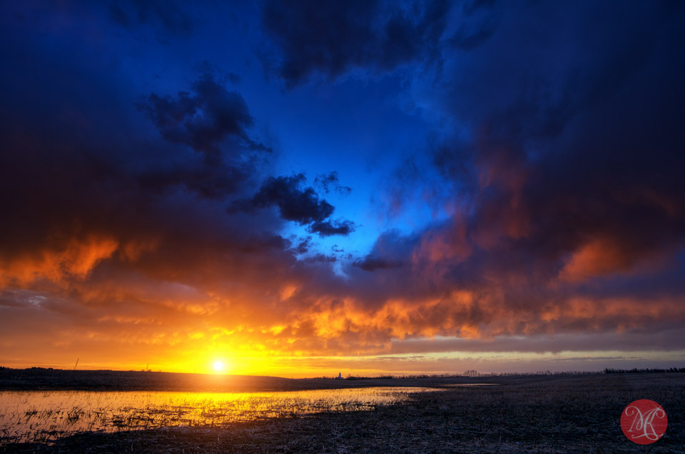 storm landscape sunset clouds alberta