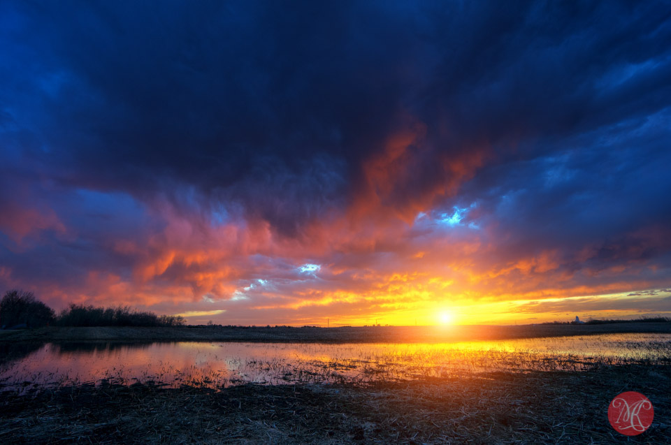 storm sky alberta landscape sunset