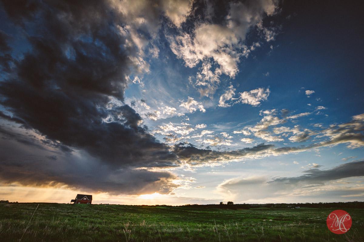 storm alberta landscape sunset