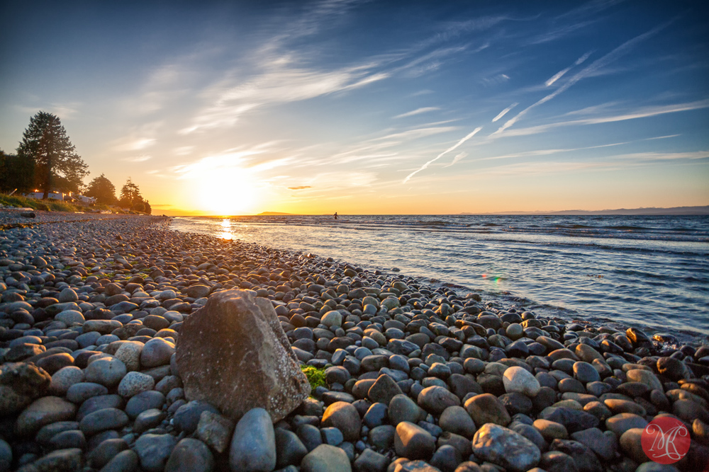 Summer evening at qualicum beach landscape photography for Landscaping rocks vancouver