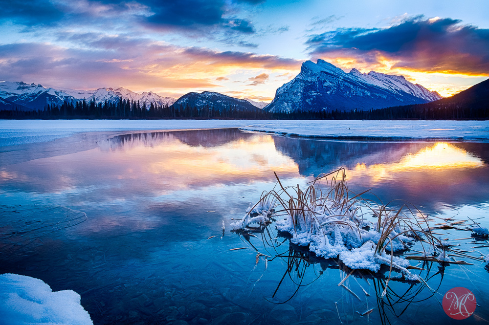 banff,rockies,winter,sunrise 01