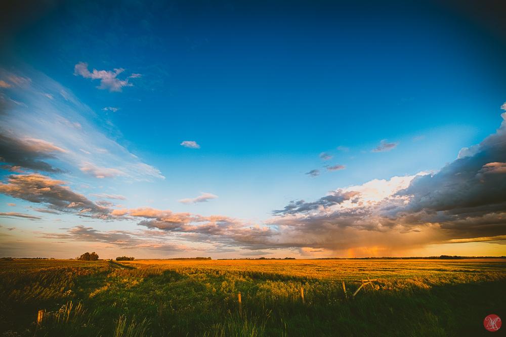beautiful alberta prairies at sunset