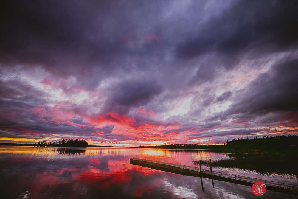 beautiful alberta landscape - sunset at elk island