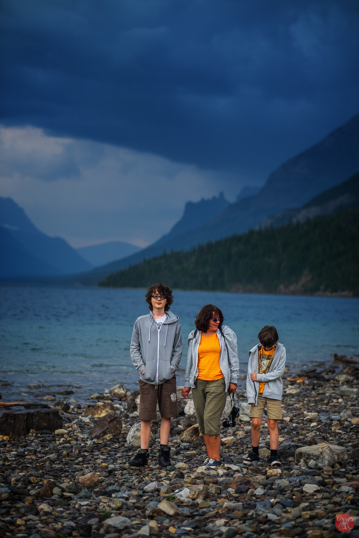 Shores Waterton lake - Alberta Landscape