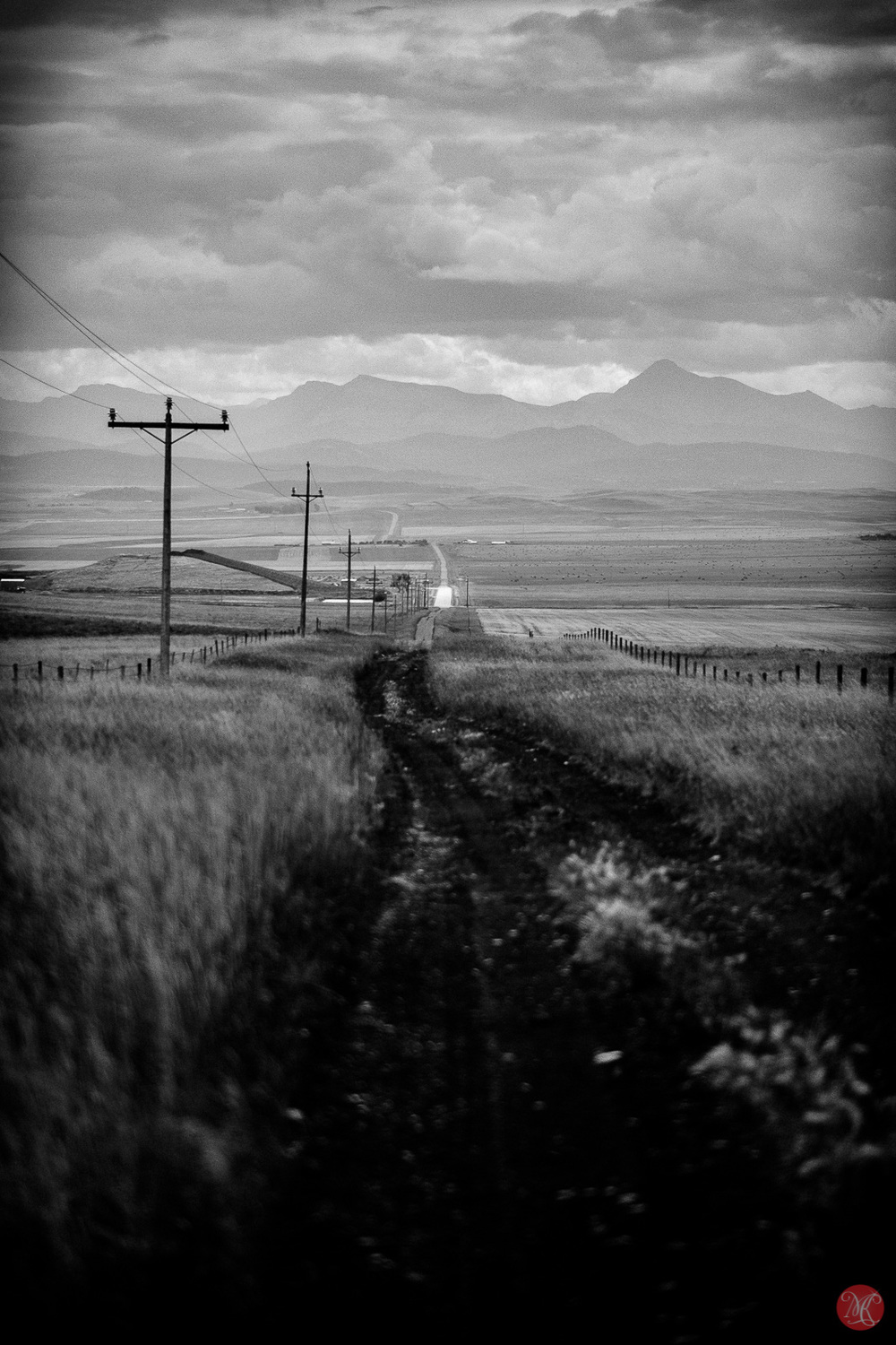 Old road to the mountains - Alberta landscape