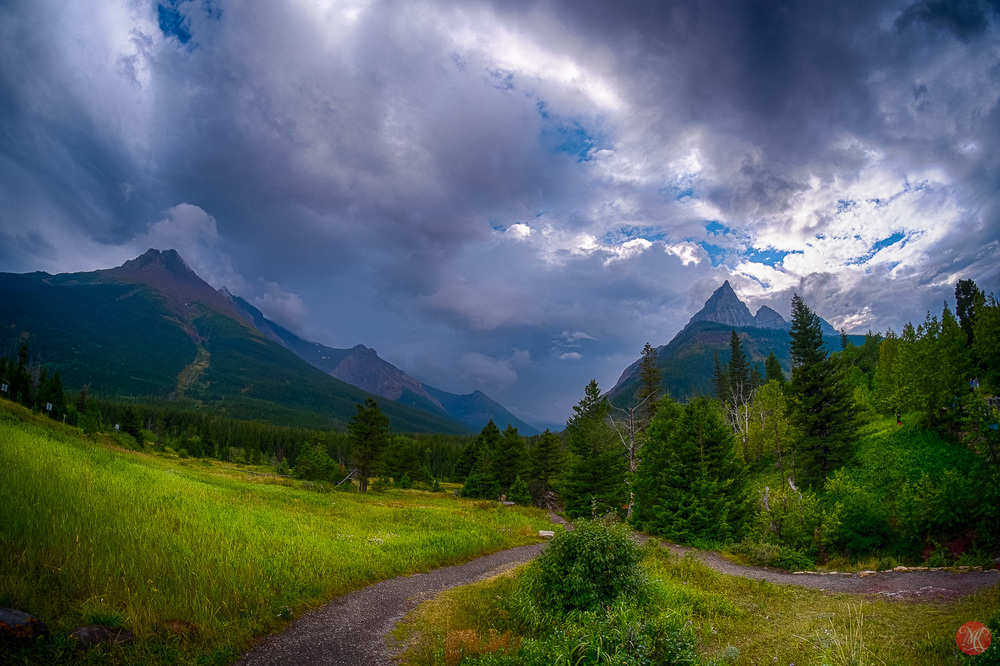 Storm over mountains - Alberta Landscape