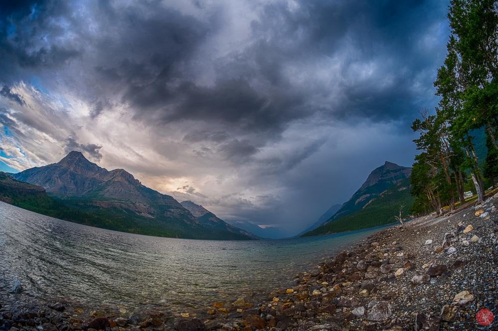 Storm over Waterton - Alberta Landscape