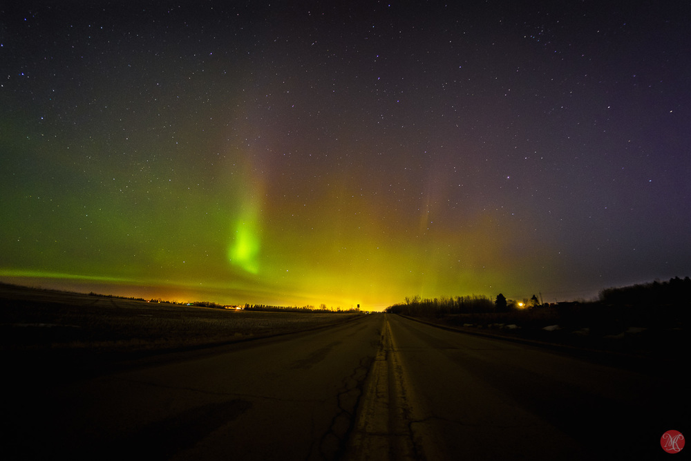 Northern Lights over Edmonton Alberta