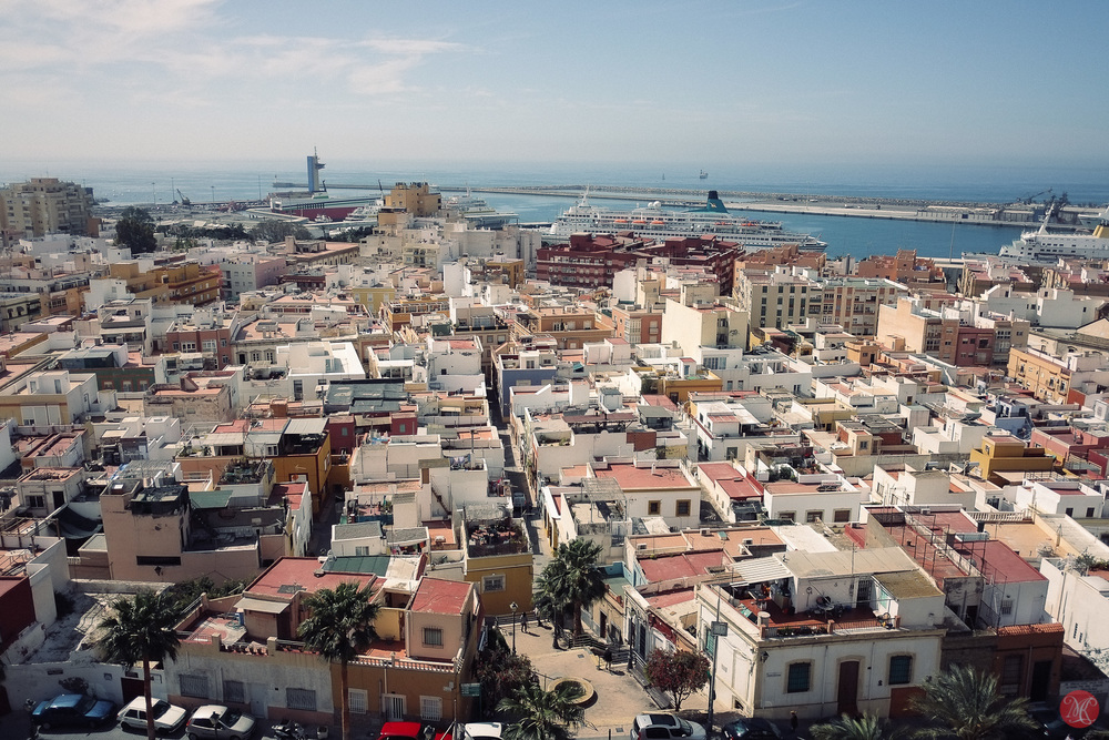 Almeria panorama with Fuji X camera