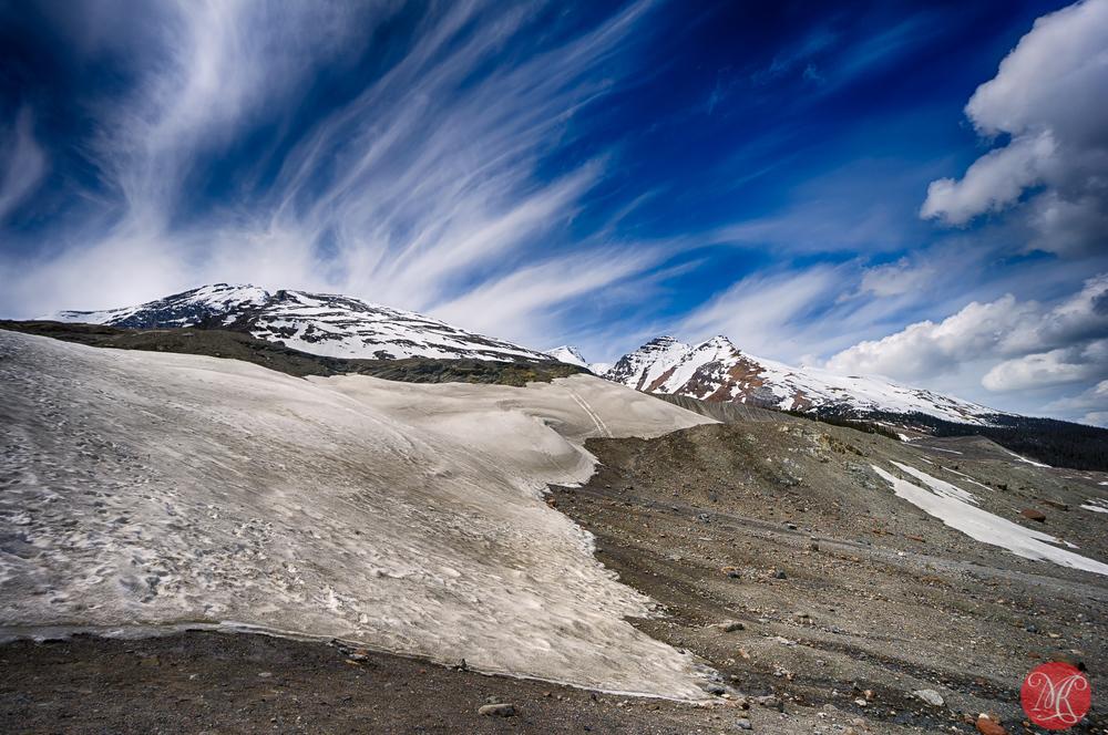 Climbing  to Athabasca Glacier