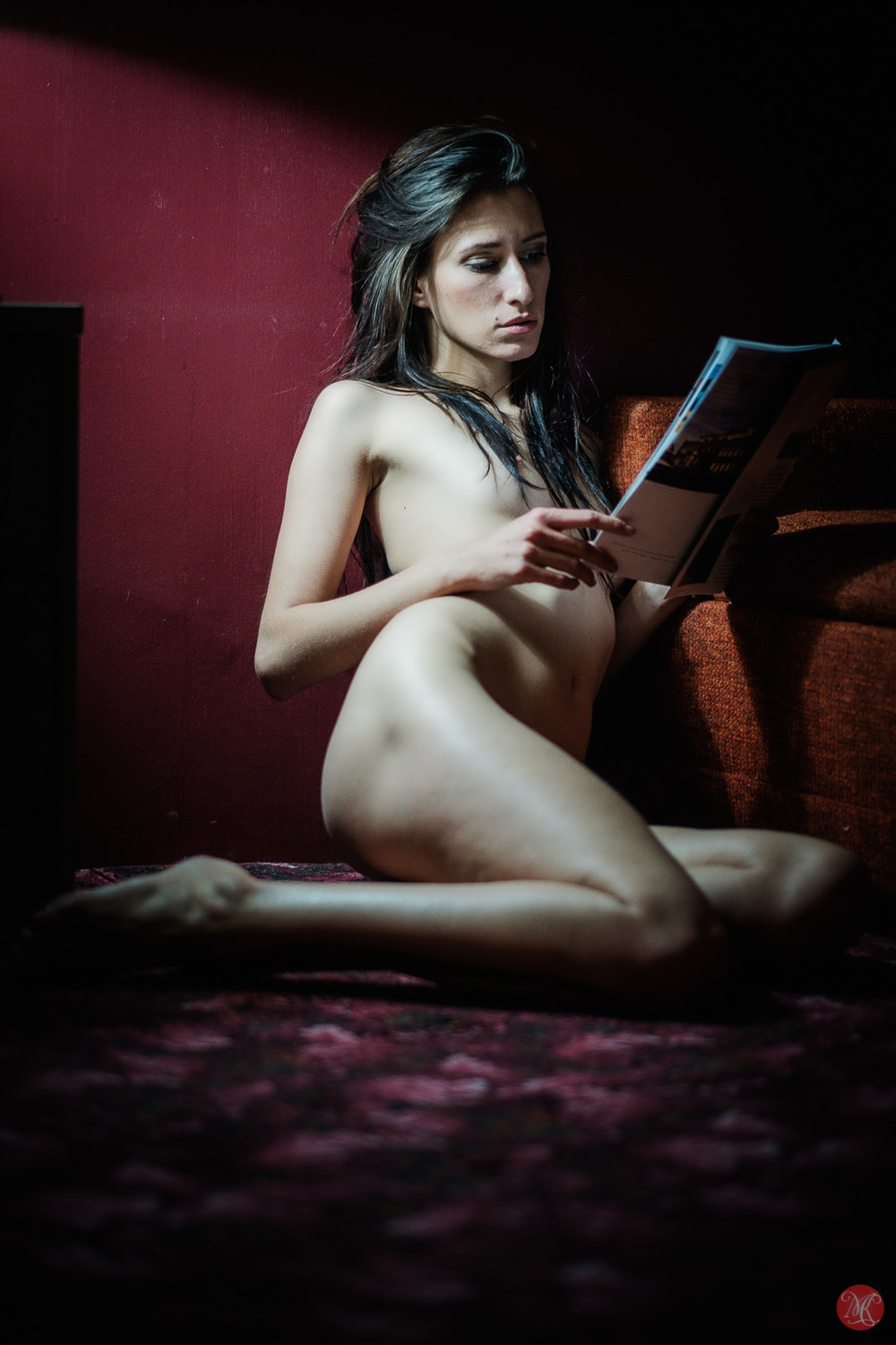 Kate Snig model woman portrait reading nude