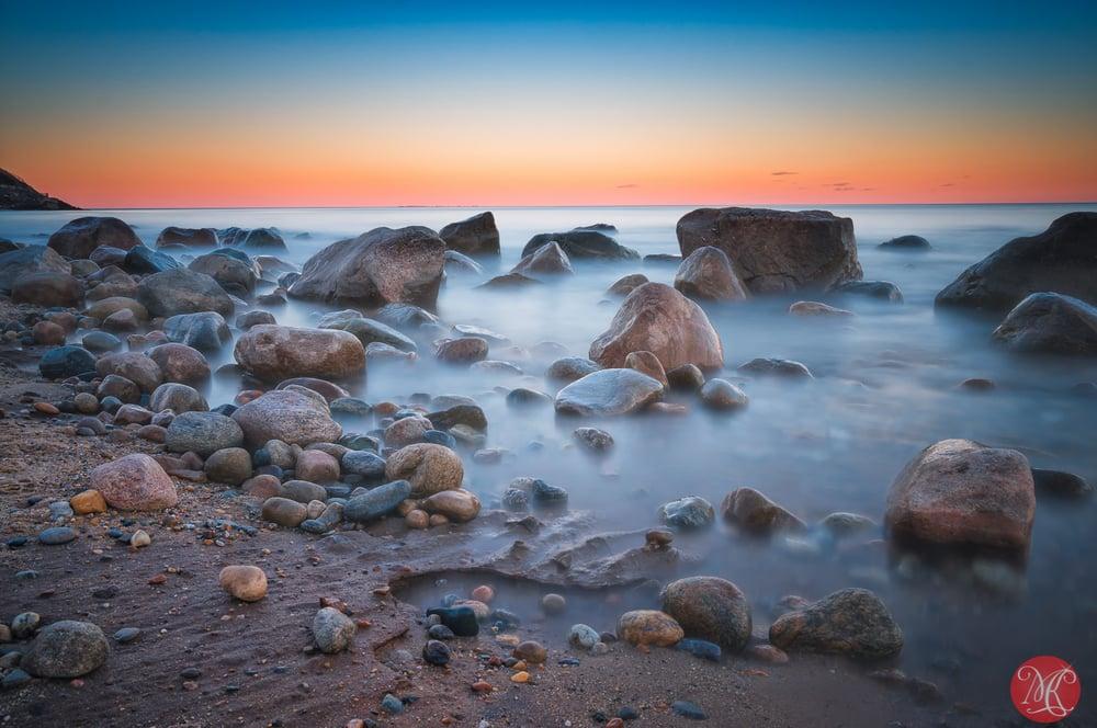 Sunset at Montauk point long exposure