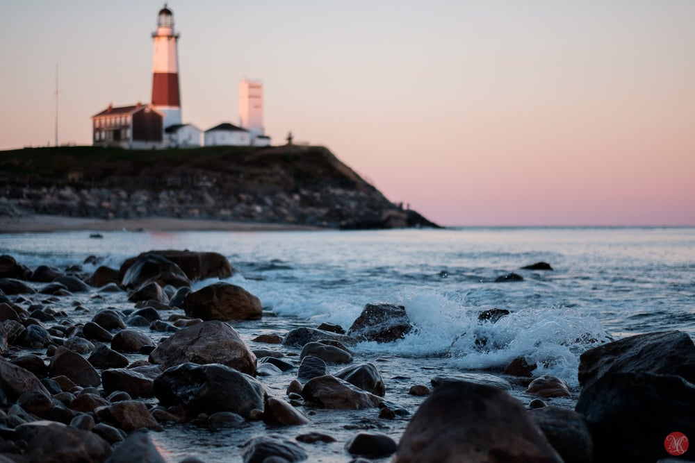 Montauk Point Lighthouse at sunset