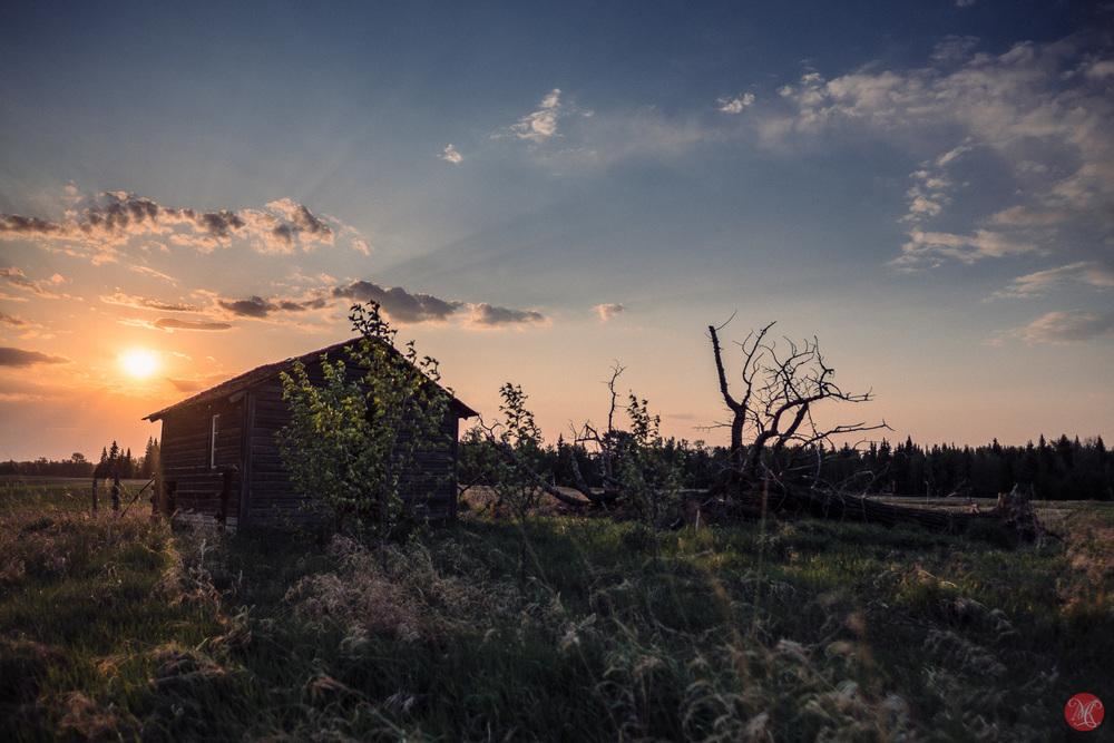 Dusty Alberta spring sunset