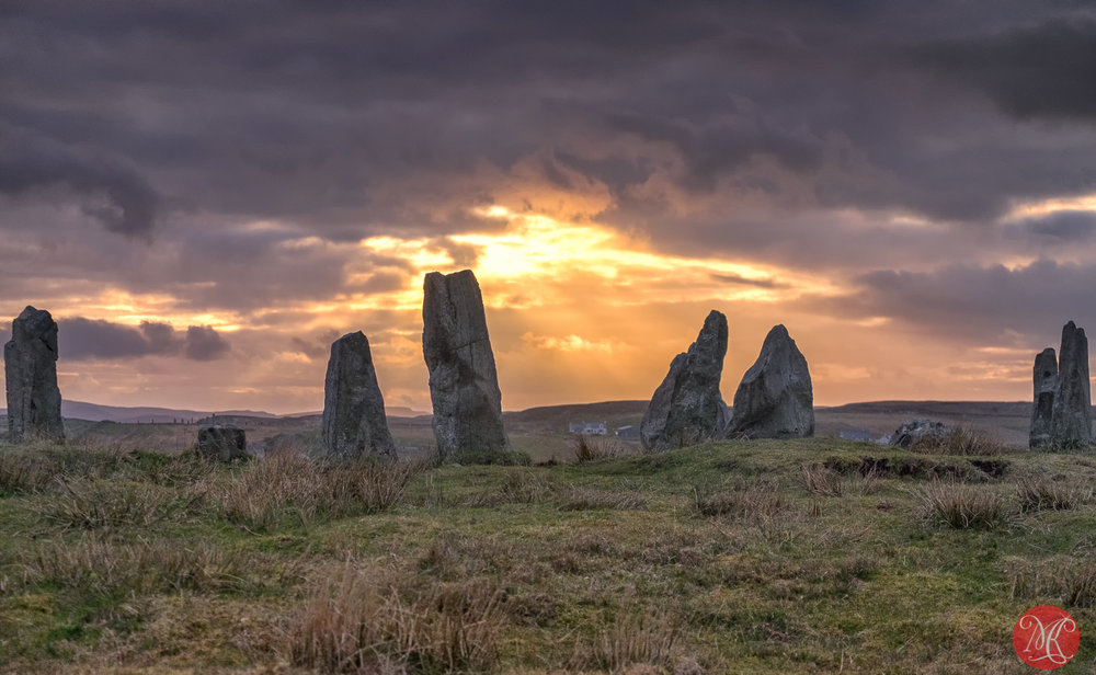 Callanish Stones - all 3 sets  lined up