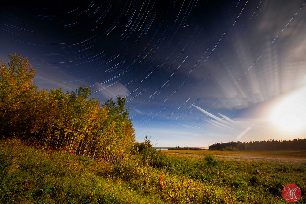 Harvest Moon star trails