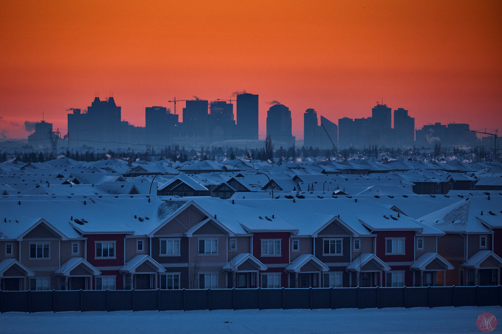 edmonton skyline at sunrise