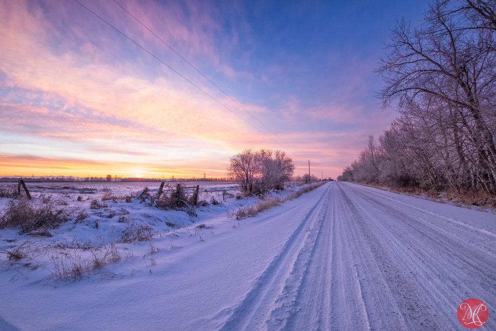 Alberta roads go forever..