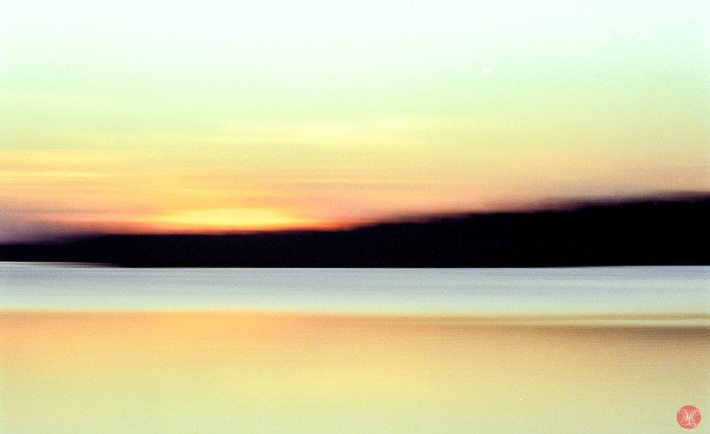 golden sunset on kodak ektar