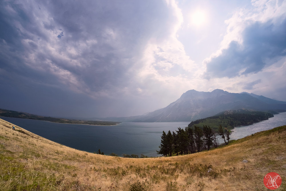 Hazy, windy and dry at Waterton