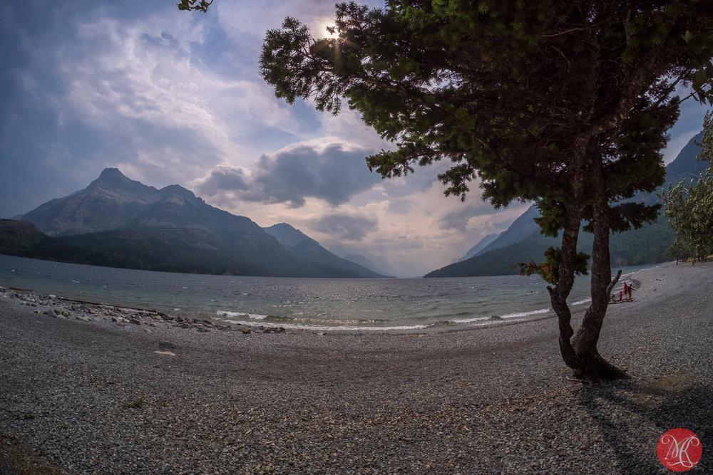 By a windy lake