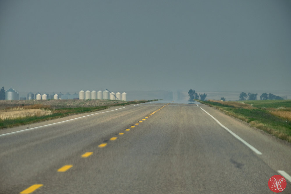 Hot and hazy - on the way to rumheller