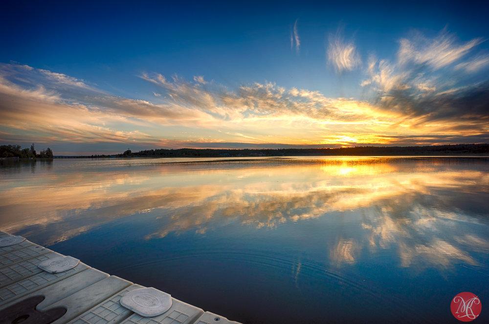 Evening at Wabamun Lake 4