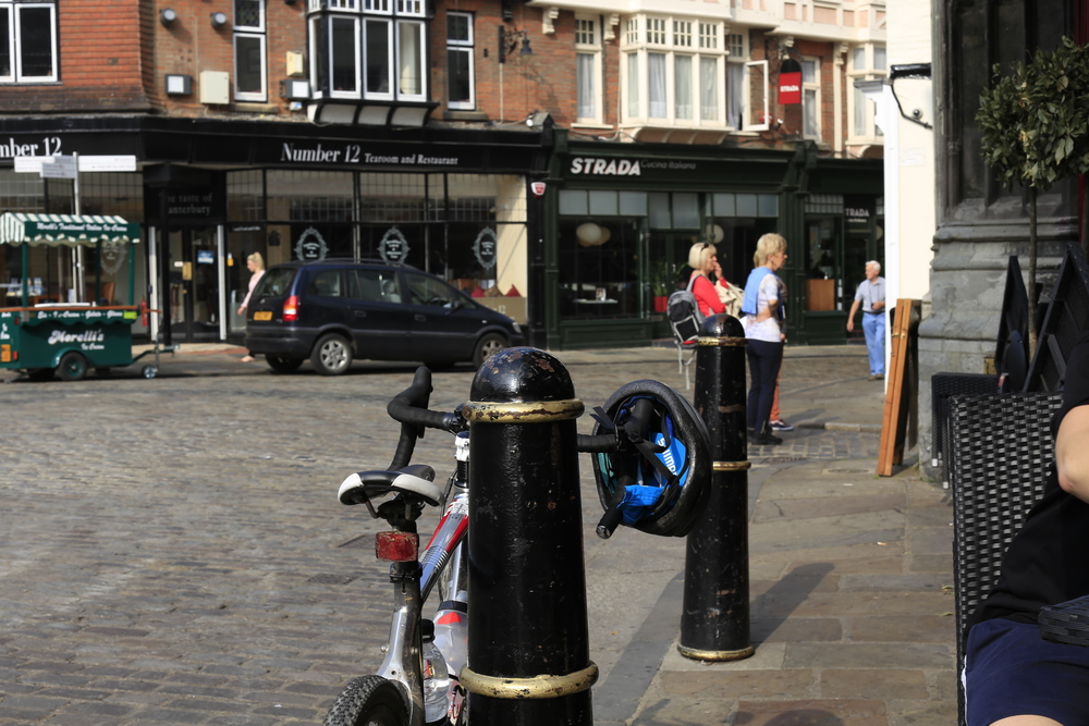 canterbury, city, shops, centre, cafe, bike, bicycles, cycling