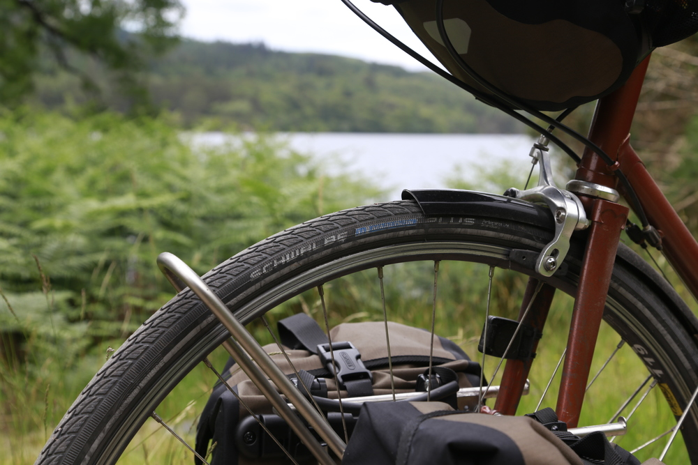 scotland, mavic, tubus, panniers, steel frame, custom bike, custom touring bike