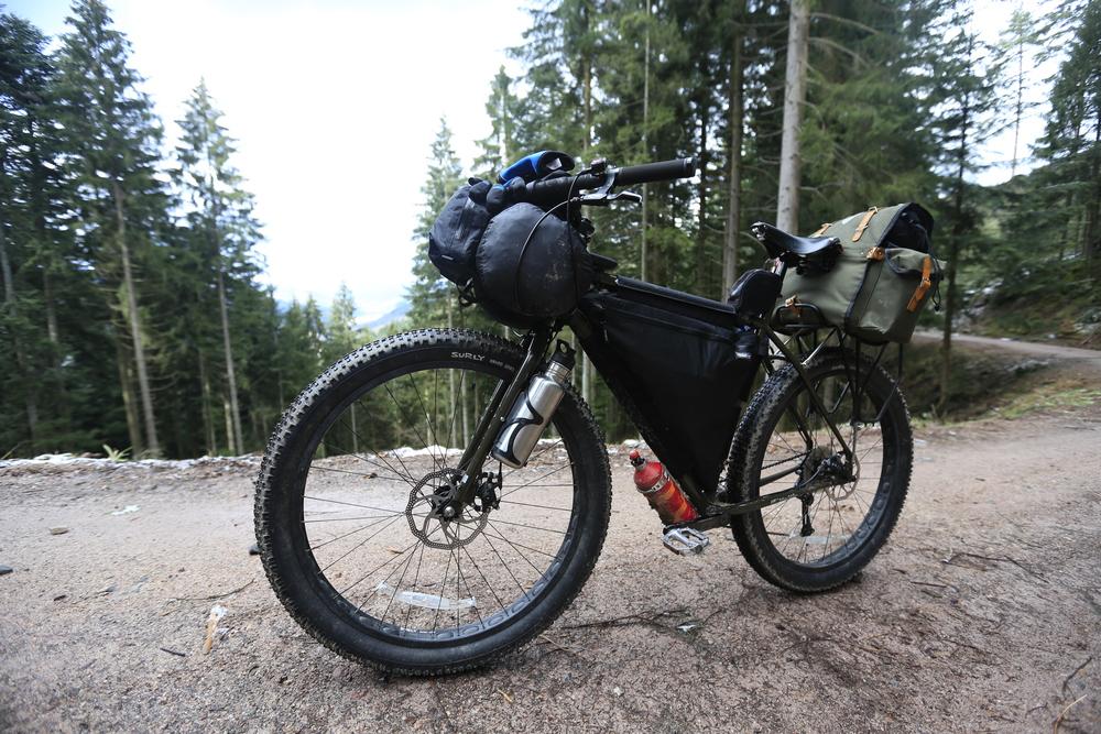 """bikepacking, germany, surly, surly ecr, fat bike, knards, 3"""" tyres, blog, bikepacking blog, travel, fat bike, touring, cycle touring, bicycle touring, wildcat gear"""