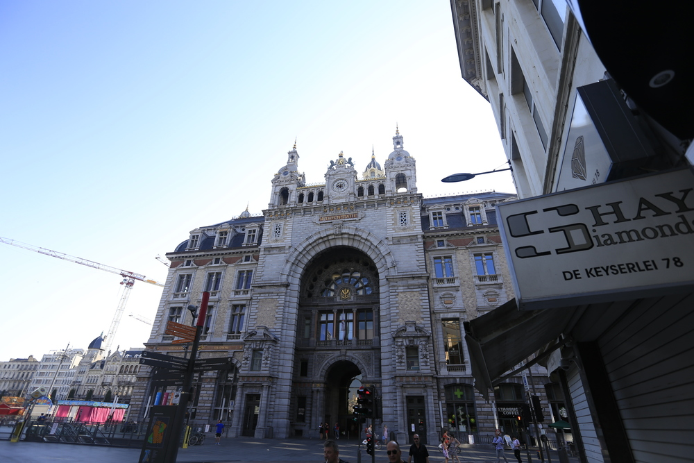 Antwerp train station.