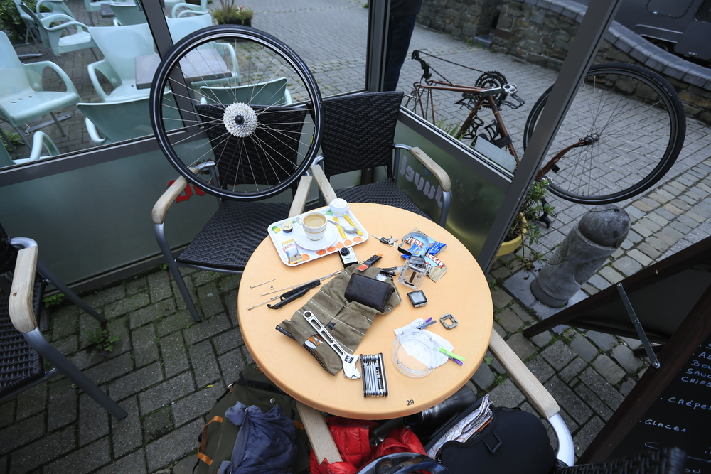 Fixing broken spokes...happy days!