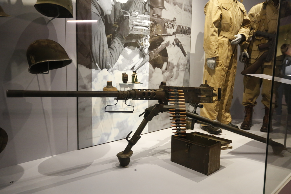 machine gun, heavy duty machine gun, bastogne, bastogne belgium, belgium, war museum, WWII, visit belgium, bicycle touring apocalypse