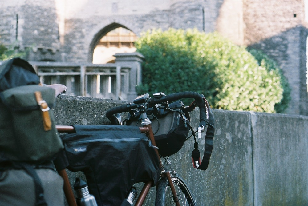 raleigh, raleigh bicycle, custom bicycle, cycling, cycling blog, bicycle touring apocalypse, explore, steel frame, carradice, frame bag, wildcat wildcat gear, canon, canon ae-1, film camera, 35mm