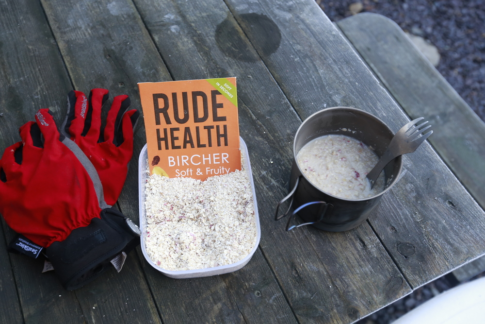 rude health, rude health porridge, rude health the bircher, bircher muesli, bicycle touring apocalypse, food, foodie, porridge, food blog, bicycle touring apocalypse, bikepacking food, cycle touring food, bicycle touring food, travel, travel blog, explore, exploration, foodporn, titanium, titanium spork, light my spork