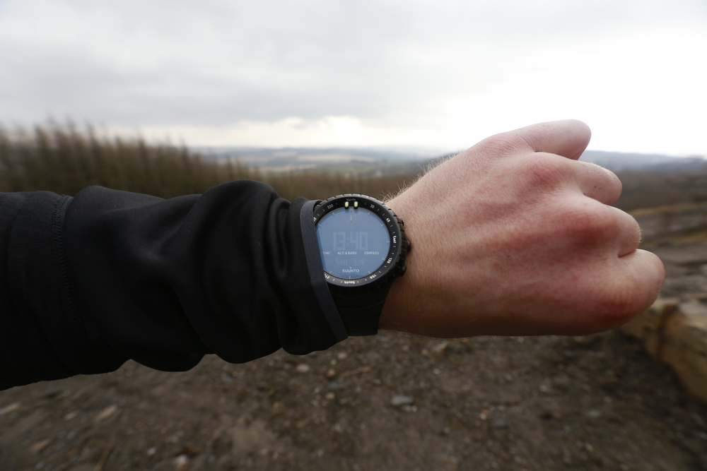 The Suunto Core All Black's compass turned out to be incredibly useful.....excuse the weird rash on my hand!
