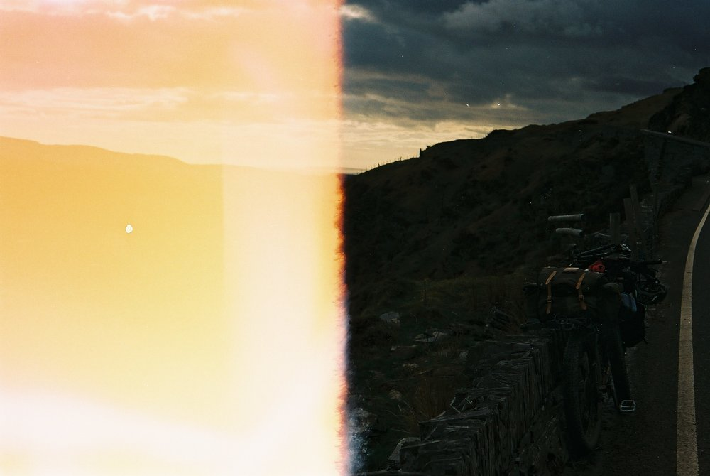 film burn, burn, light bleed, over exposed, landscape, landscape photography, canon, canon ae-1, film camera, 35mm, jack macgowan, photographer, photography blog, blog, nomad, travel, explore, exploration, bicycle, bikepacking, bicycle touring, bicycle touring apocalypse, trees, wild, wild places
