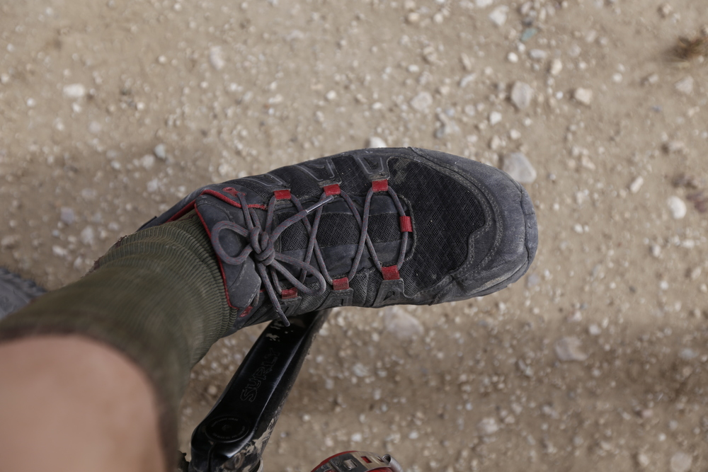 The Berghaus Explorer Active GTX proved to be a superb bikepacking/bicycle touring shoe, review coming soon!