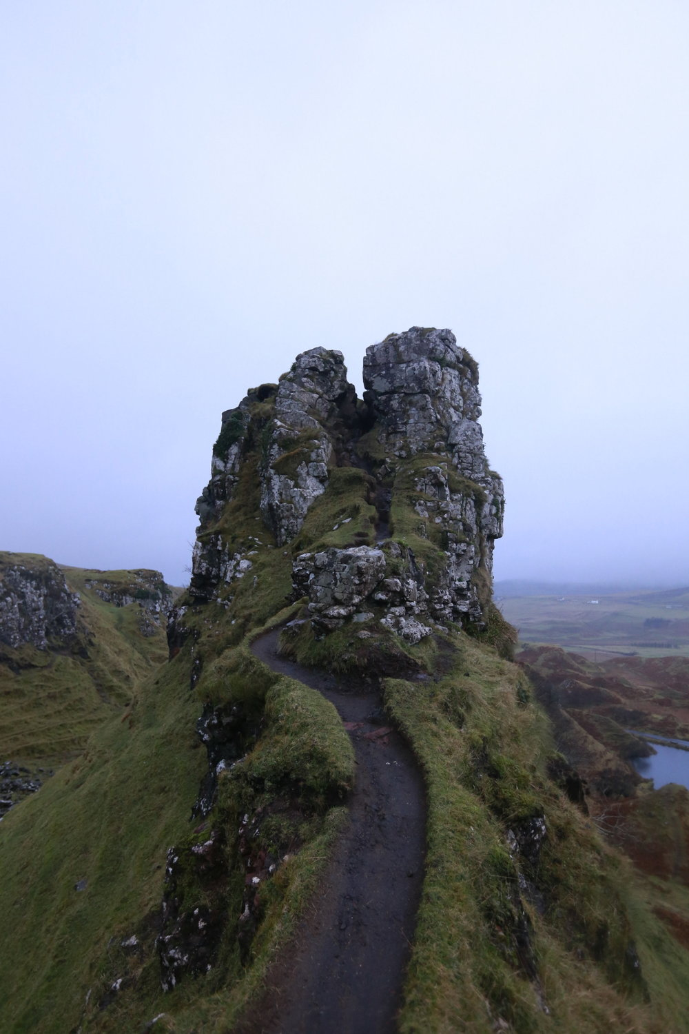 The magical Castle Ewen at the Fairy Glen.