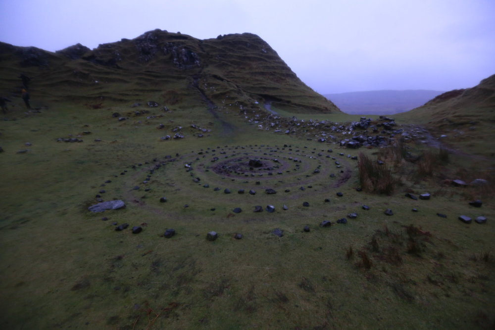 A tourist made Fairy circle...