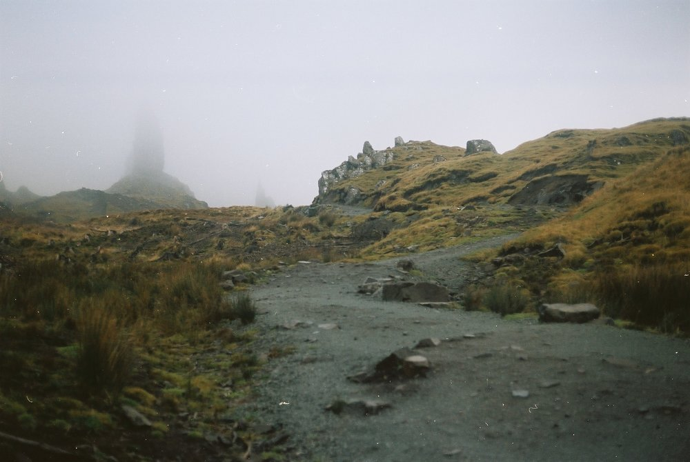 The beginning of the 250m climb to Old Man of Storr.