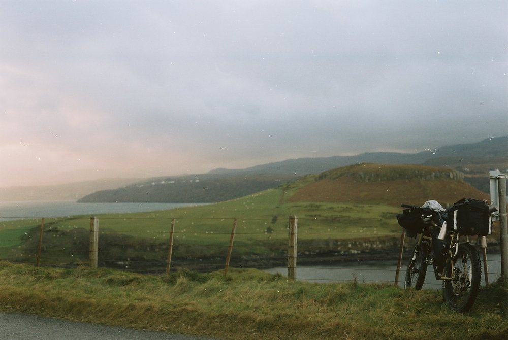 film is not dead, canon, canon ae1, ae1, kodak, kodak film, kodak portra, portra 160, analog photography, film photography, jack macgowan, bikepacking, bikepacking blog, cycling blog, travel photography, travel blog, skye, isle of skye, scottish highlands, bikepacking scotland, bicycle touring apocalypse, landscape photography, mountains, hiking