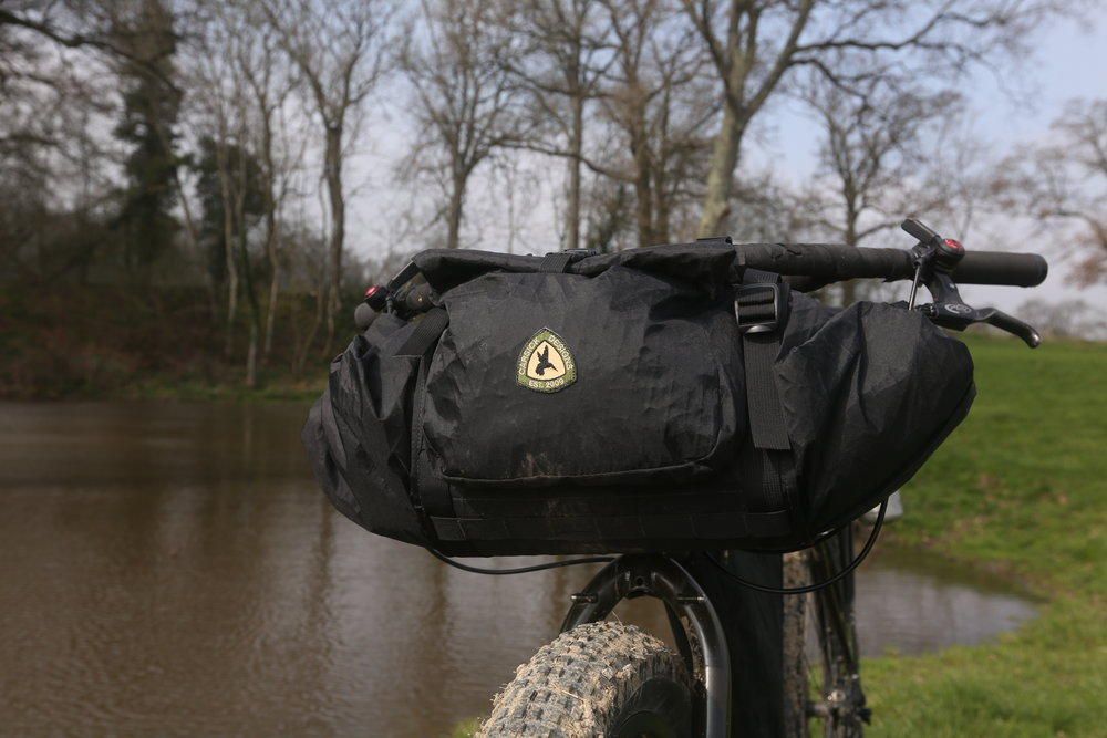 cycling, mtb, bikepacking bags, car sick designs, handee randee, handlebar bag, bike harness, handlebar harness, cycling, cycling gear, adventure cycling, bicycle touring, touring, touring gear