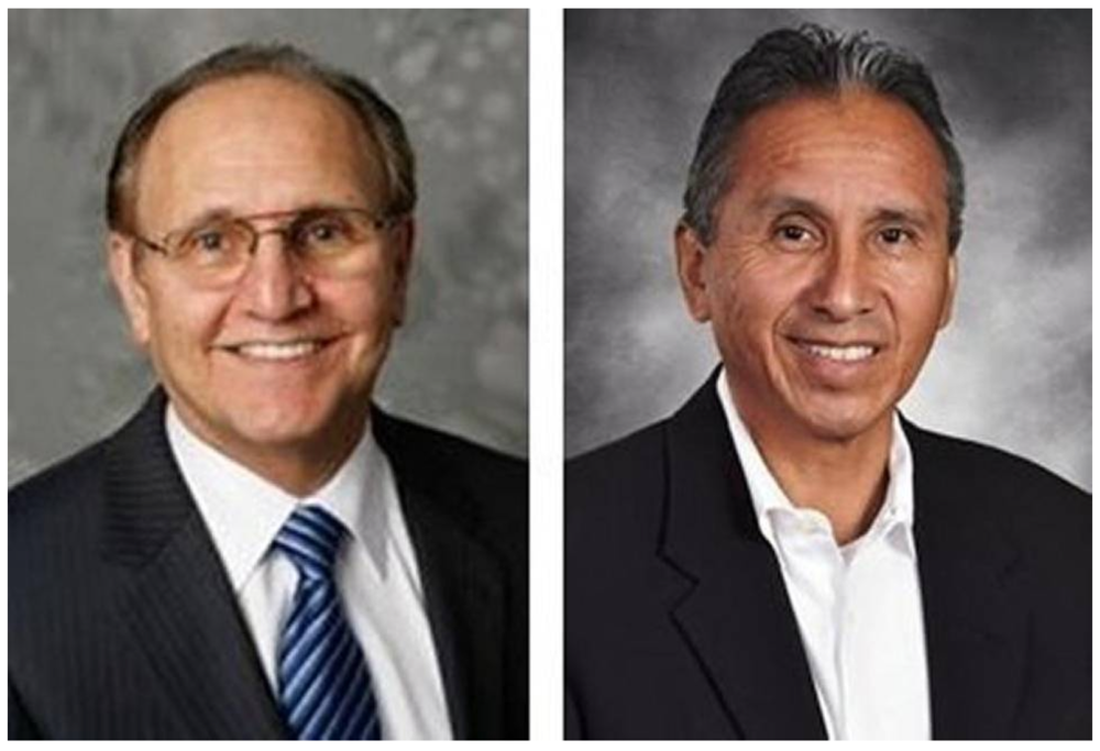 Lee Brand, left, and Henry R. Perea are running for Fresno mayor.